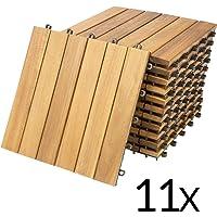 """Deuba Set de 11 baldosas """"Clásica"""" de madera"""