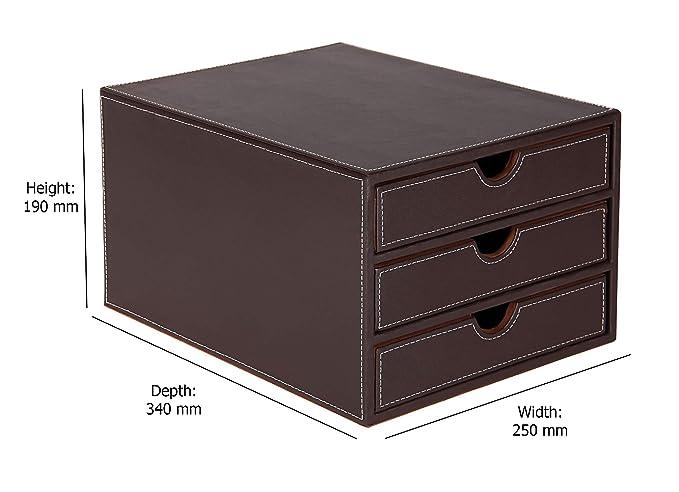 Osco BPU3TPSP - Organizador de documentos, 3 niveles, color marrón: Amazon.es: Oficina y papelería