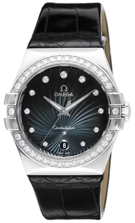 [オメガ]OMEGA 腕時計 コンステレーション ブルー文字盤 ダイヤ アリゲーター革 123.18.35.60.56.001 レディース 【並行輸入品】 B00R468UPK
