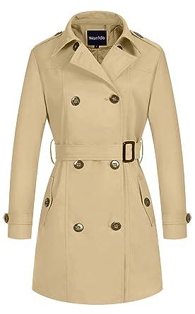Langer damen mantel trenchcoat