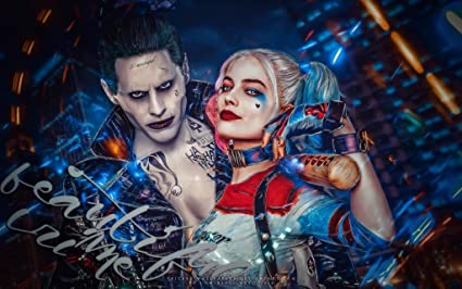 e4558abefc87 Image Unavailable. Image not available for. Color  Suicide Squad (Harley  Quinn And Joker) Poster ...