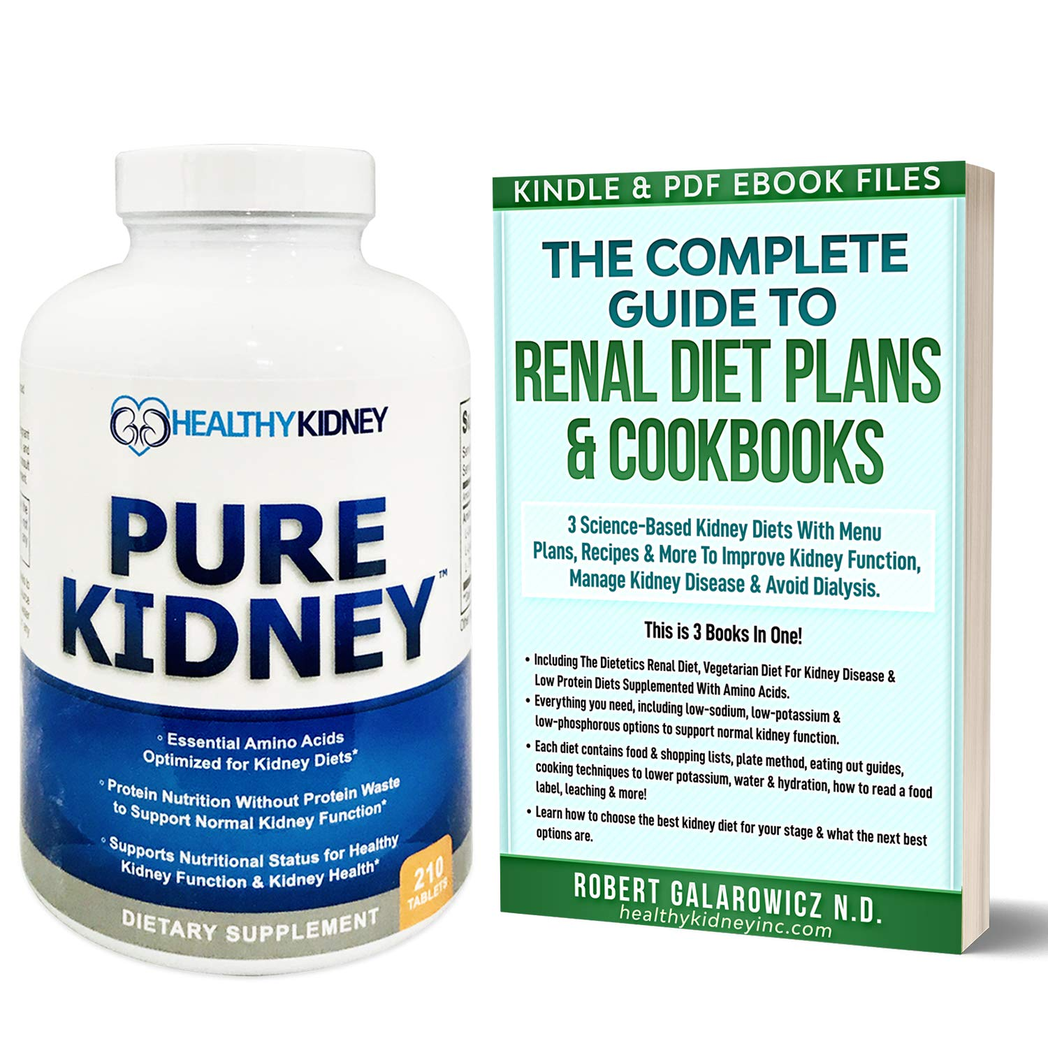 Pure Kidney Powerful Kidney Health Supplement and Renal Disease Diet Cookbook For Rejuvenating, Kidney Cleanse and Supporting Normal Kidney Function. Kidney Diet Book, Kidney Disease, Renal Supplement by Kidney Restore