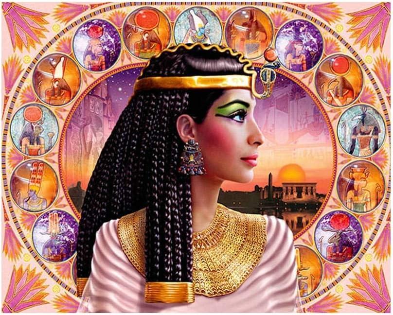 PDGPZZSH Diamant Point De Croix 5D Accueil D/écoration DIY Diamant Peinture Reine D/Égypte Couture Compl/ète Carr/é Foret Diamant Broderie Peinture Vz719