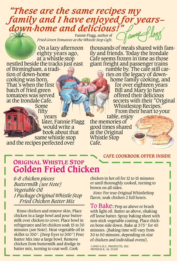 Original WhistleStop Cafe Recipes | Batter Mix for Chicken, Baked or Fried | 9-oz | Case of 6 by Irondale Cafe Original Whistle Stop Recipes (Image #3)