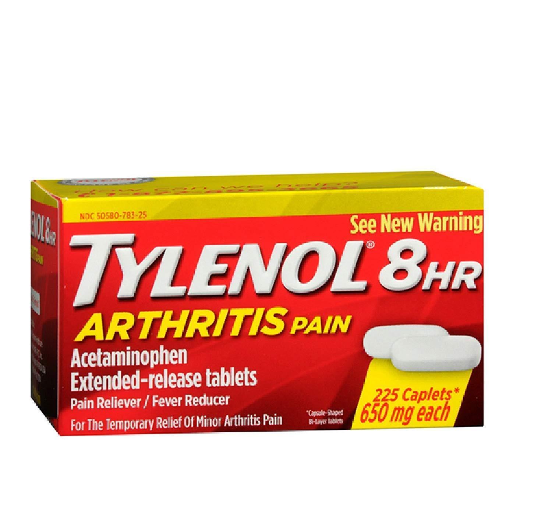 Tylenol Arthritis Pain Reliever 650 mg 100 pills
