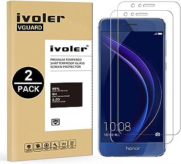 iVoler [2 Unidades] Protector de Pantalla para Huawei Honor 8 ...