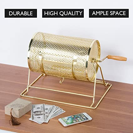 Amazon.com: HOMETECH Poker rifa tambor Ticket dibujo vaso ...