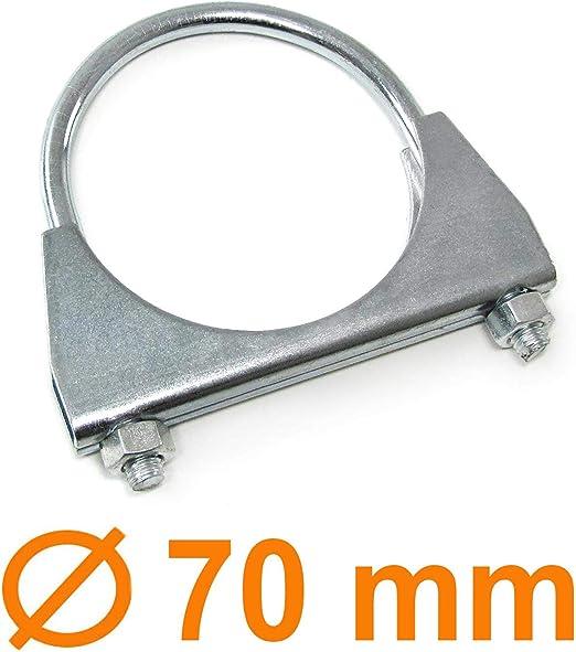 Carparts Online 29935 Auspuff U Bügelschelle Rohrschelle Universal 2 75 70mm M8 1 Stück Auto