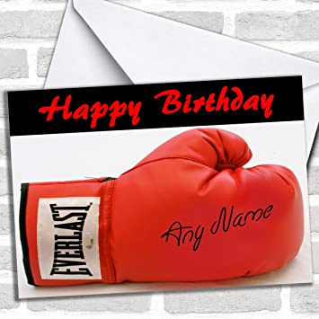 Signed Boxing Glove Customised Birthday Greetings Card Cards Sports Hobbies Interests Amazoncouk Office Products