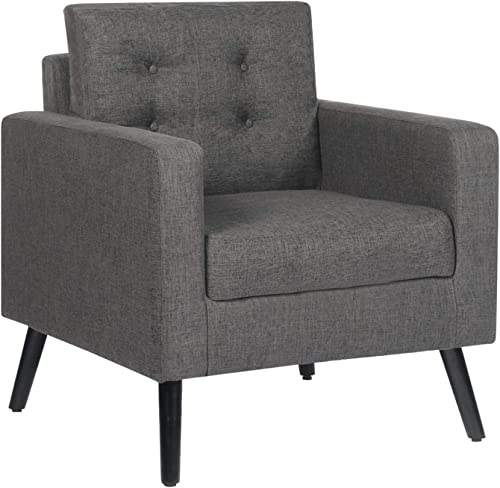 STHOUYN Modern Upholstered Comfy Reading Accent Chair