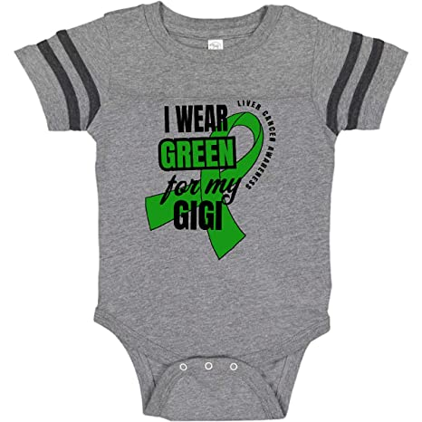 inktastic I Wear Green for My Gigi Liver Cancer Awareness Baby T-Shirt