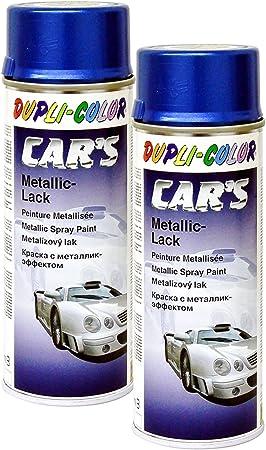 Dupli Bundle 2x Dupli Color Cars Metallic Lack Spray Azurblau 400ml 706837 Auto