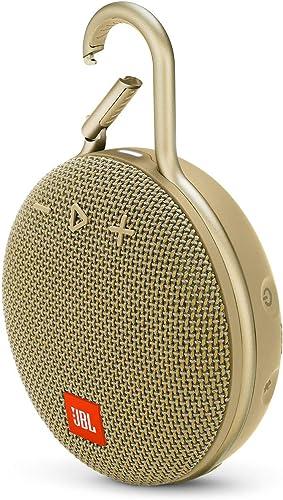 JBL Clip 3 Portable Waterproof Wireless Bluetooth Speaker – Sand