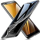 ESR Funda para Samsung Galaxy A8 2018, Funda Transparente Suave TPU Gel [Ultra Fina] [Protección a Bordes y Cámara] Enjaca Samsung Galaxy A8 2018-Negro