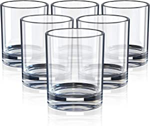 Old Fashioned Whiskey Glasses 7 Ounce, whiskey glass set, Short Glasses For Party,Set Of 6, Style Glassware for Bourbon/Rum glasses/Bar whiskey glasses,Clear