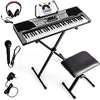 61-Key Electronic Keyboard Piano, Full-Size Digital Piano, Electronic Keyboard w/ 255 Timbres & Rhythms, 3 Teaching…