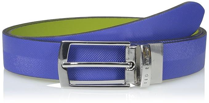 73d5ebe52edb Ted Baker mens Reversible Herringbone Belt Belt - blue -  Amazon.co.uk   Clothing