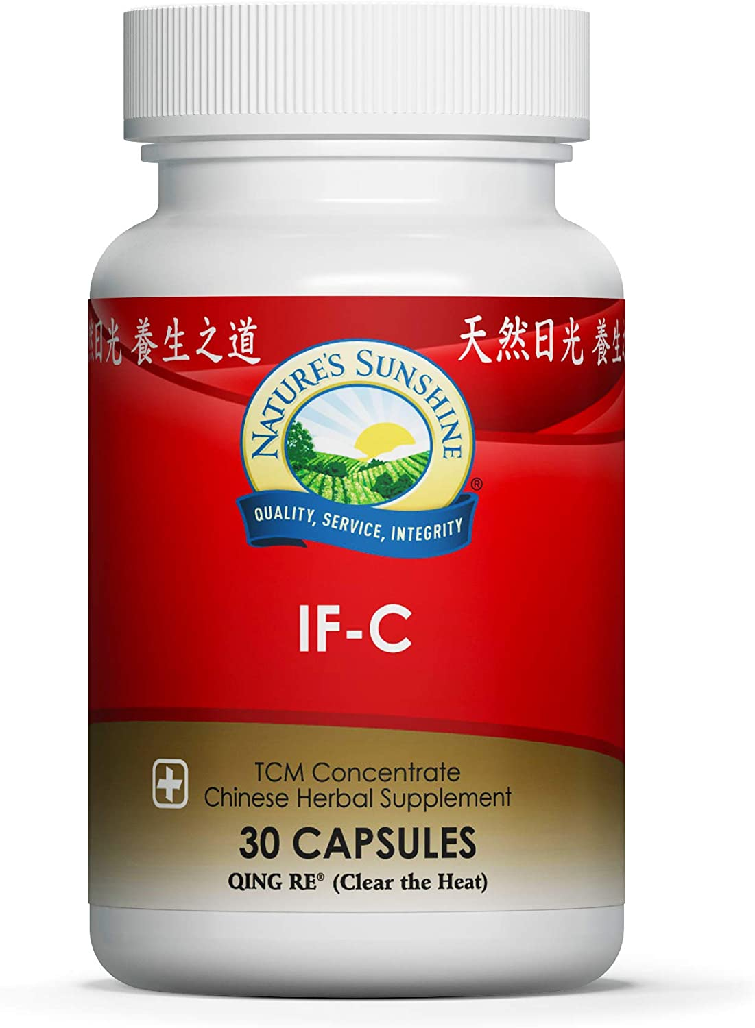 Nature's Sunshine IF-C, TCM Concentrate, 30 Capsules | Blend of Chinese Herbs That Nourish The Structural and Immune Systems by Stimulating Blood Flow and Helping to Eliminate Toxins
