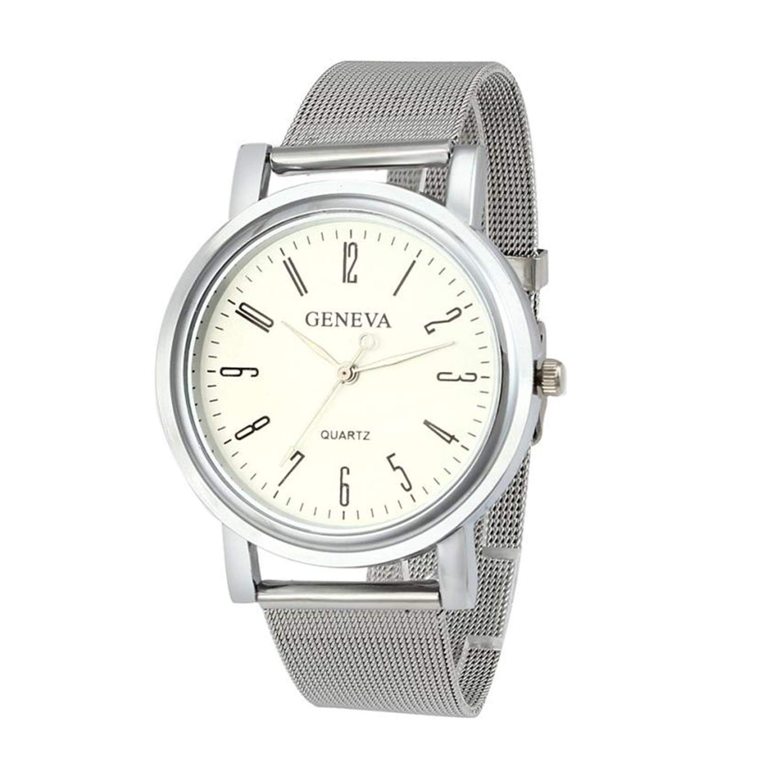 Amazon.com : Geneva Womens Quartz Stainless Steel Wrist ...