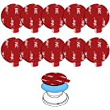 4351514447 Boao 20 Pieces Sticky Adhesive Replacement Round Double Sided Foam Tape Pad Mounting Adhesive Compatible with Socket Gray Pop Expanding Stand and Grip
