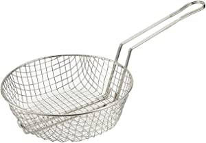 Winco Culinary Basket, 12-Inch Diameter, Coarse Mesh