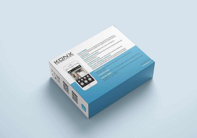 KONX KW03 Sonnette Portier vid/éo Full HD 1080p Wi-FI avec Sonnette