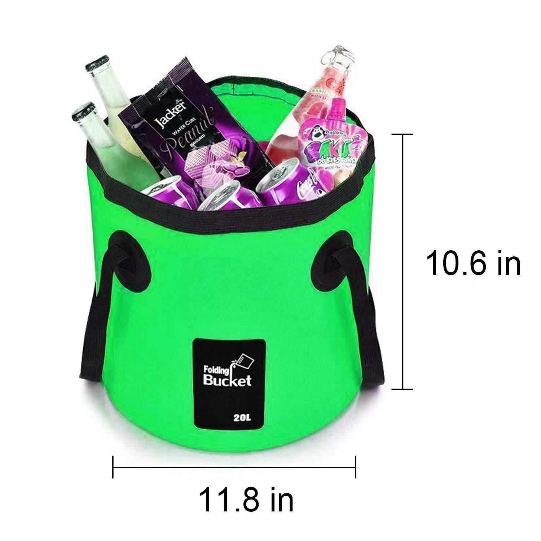 EYECLUB Premium Collapsible Bucket 20L Portable Folding Bucket Wash Basin for Traveling Hiking Fishing Boating Gardening