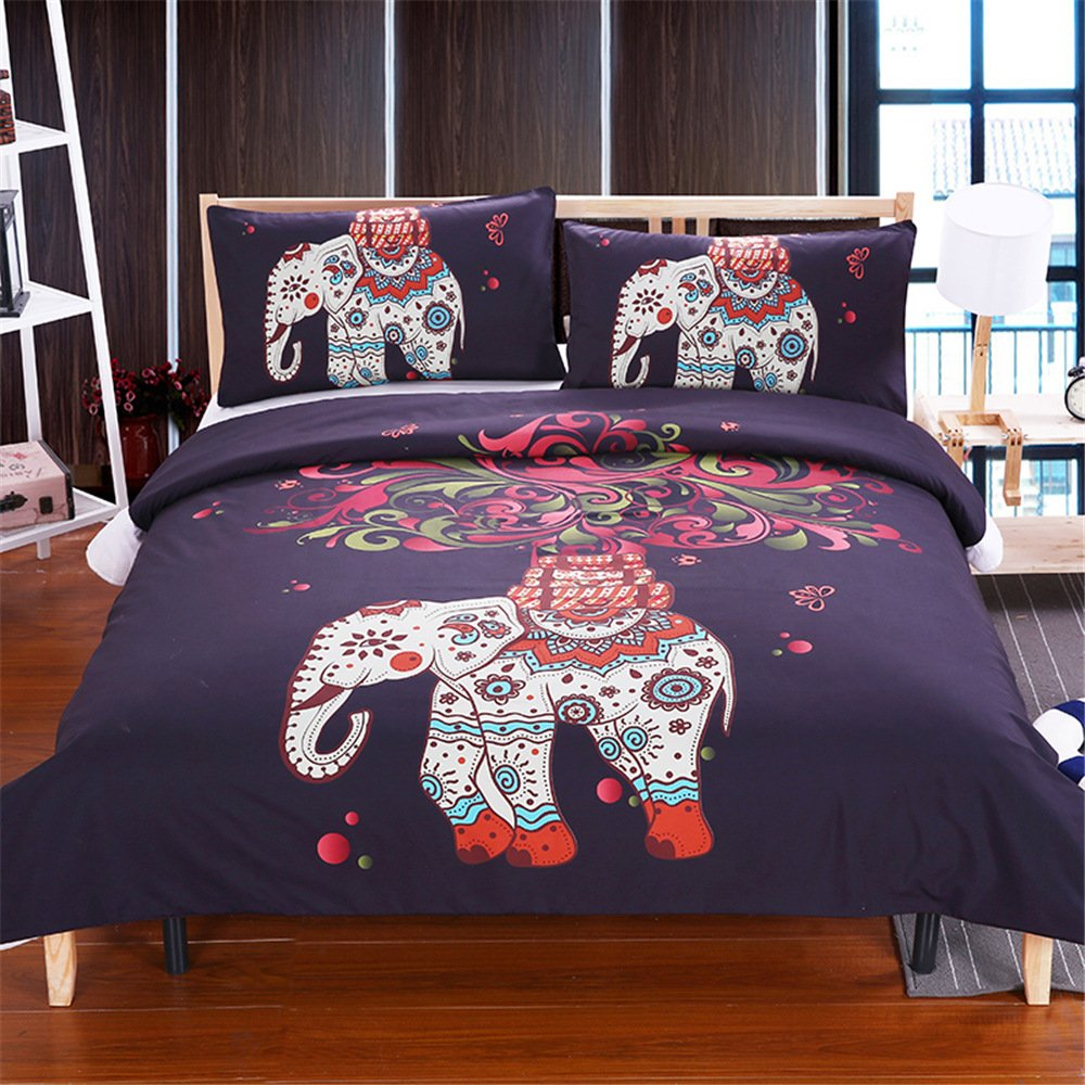HRYYLH Bedding Three Pieces Of 3D Quilt Cover In Europe And America King 264Cmx228Cm