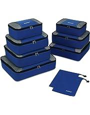 Gonex Organiseurs de Bagage Sacs Rangement de Valise Voyage 9 pcs Bleu