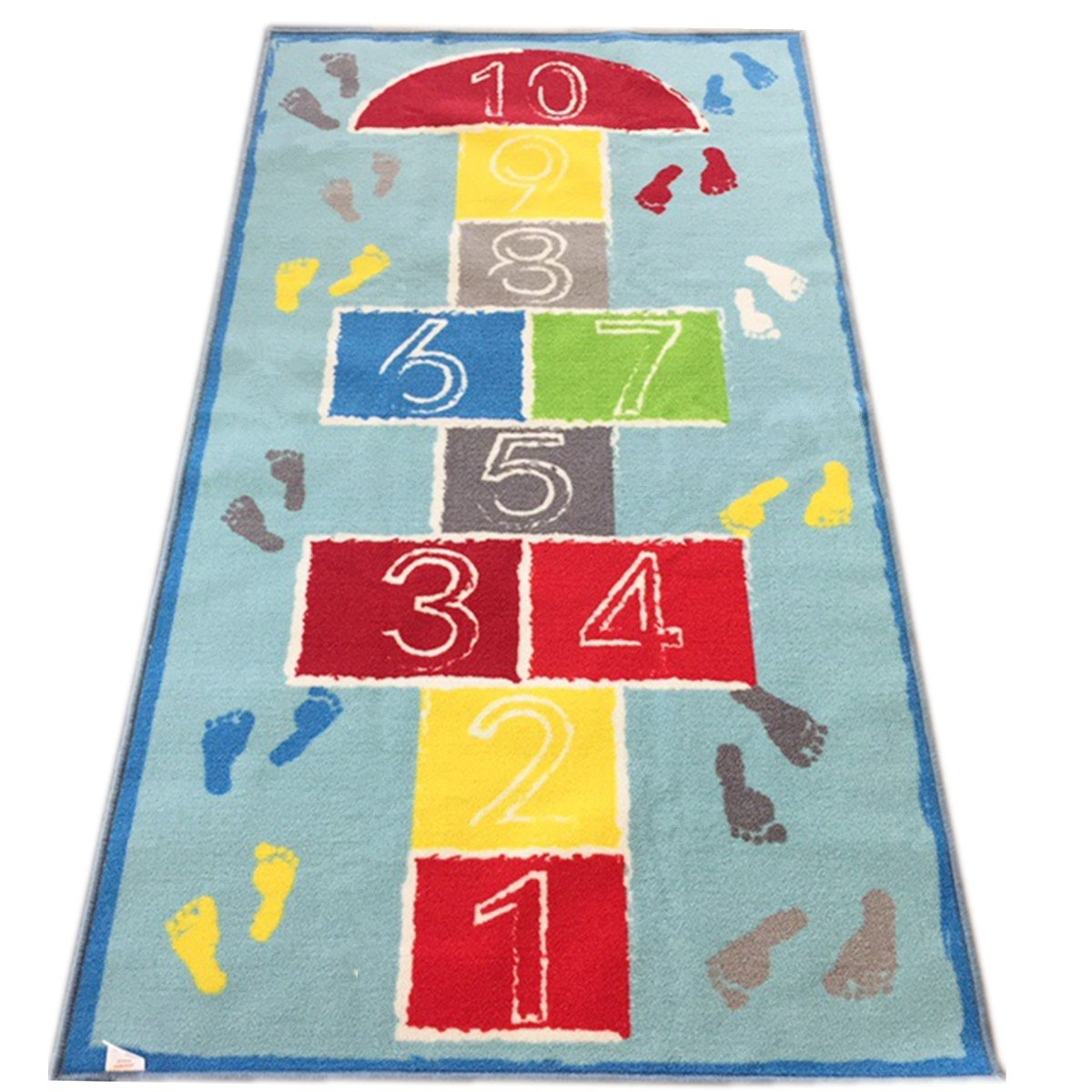 JACKSON Hopscotch Kid Rug for Playroom,Kid's Room,Nursery and Classroom,40''x71''Educational Area Rug for Boy and Girl,Safe and Fun Game Rug with Non-Slip Backing(Hopscotch Kid Rug)