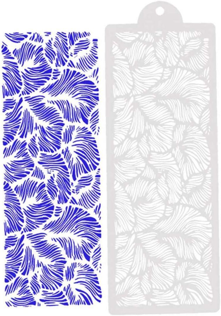 Zonfer Cartoon Peacock Pochoir Plastique mod/èle Moule Peinture Outils Bakeware d/écoration de g/âteau