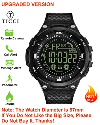 Amazon.com: Reloj inteligente digital deportivo Bluetooth T7 ...
