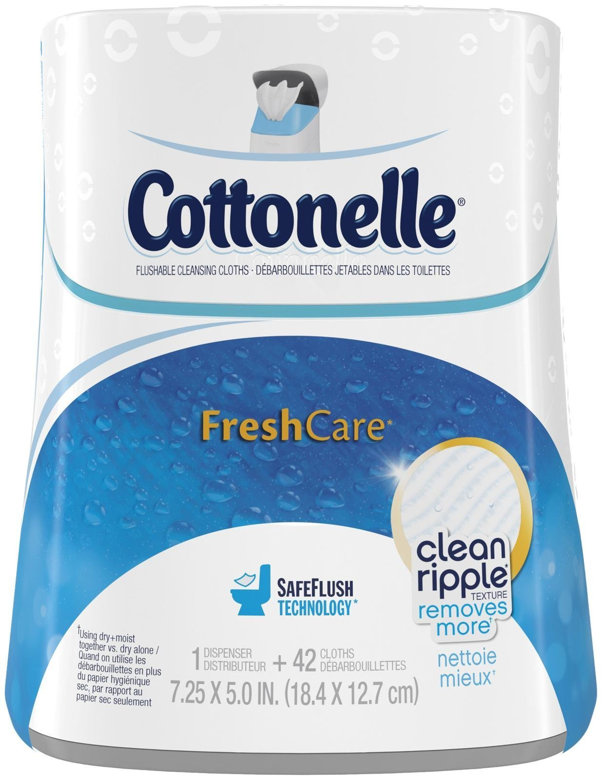 Cottonelle Fresh Care Moist Wipes Upright Dispenser + Flushable Wipes-42 ct by Cottonelle