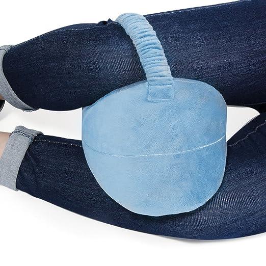 Noza Tec - Cojín ergonómico de espuma con efecto memoria para rodillas y piernas. Almohadilla ortopédica con bolsa de viaje. Mejora la circulación ...