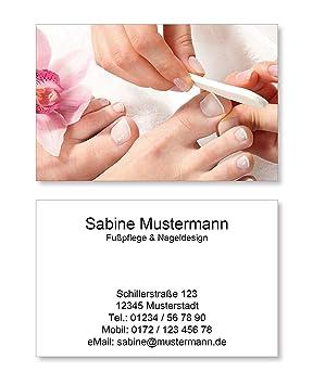 250 Visitenkarten Für Fußpflege Pediküre Nageldesign