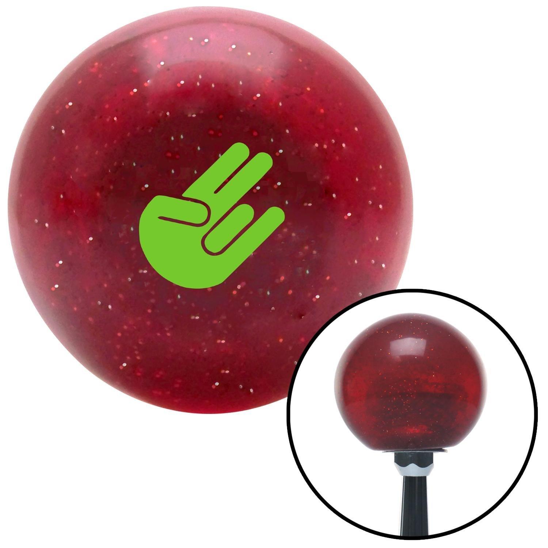 Green Shocker Red Metal Flake with M16 x 1.5 Insert American Shifter 282280 Shift Knob