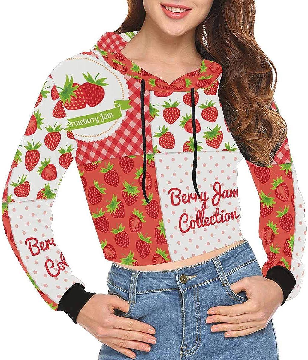 INTERESTPRINT Womens Long Sleeve Crop Top Pullover Sweatshirt XS~2XL
