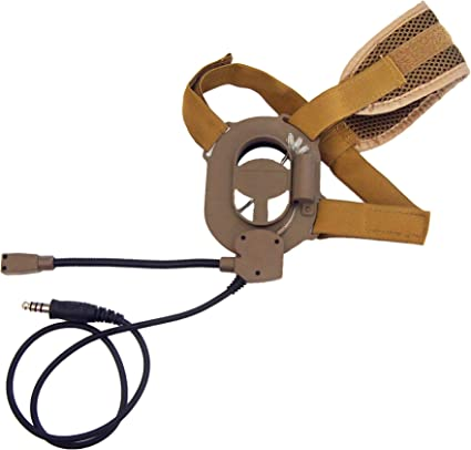 The Mercenary Company TP-120 Covert Military Throat Mic Headset Peltor Comtac