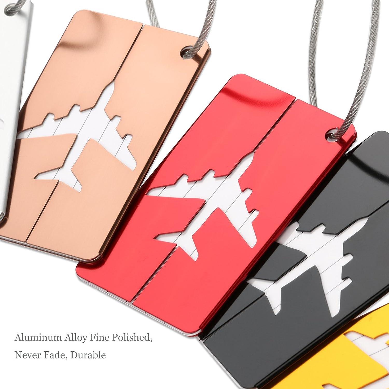 Amazon.com: NUOLUX Travel Luggage Tags Suitcase Luggage Bag Tags ...
