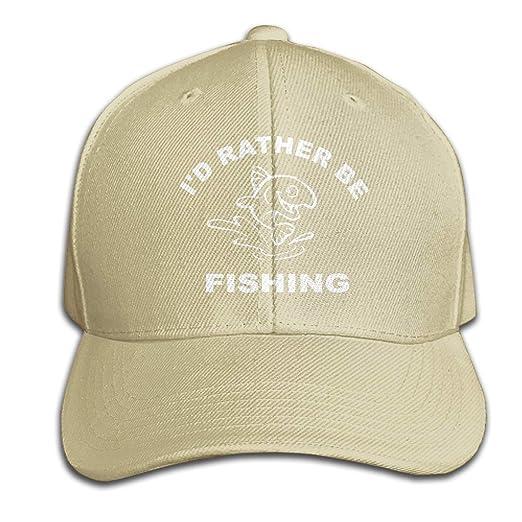 64f7c9e6897 OWNSGWWS I D Rather Be Fishing Men Baseball Hat Trucker Hat Dad Cap Plain  Cap