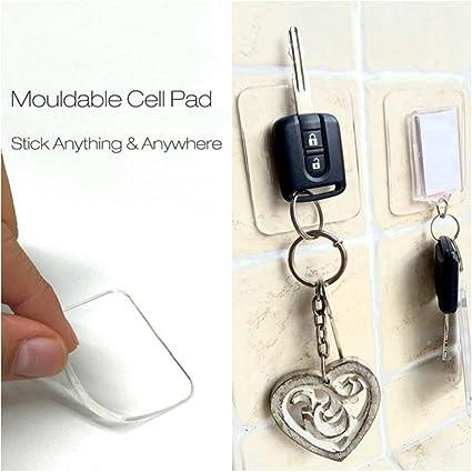 Honana - Almohadillas autoadhesivas y antideslizantes de silicona para sujetar/colgar el teléfono móvil,