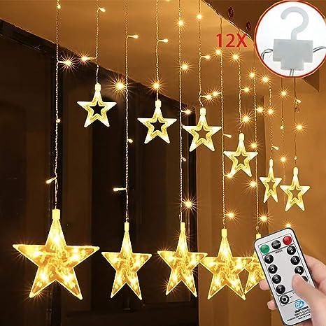 Estrellas Hadas Luces 108 Leds Telones De Hogar Led Cortina Cadena Luces Con Control Remoto Para Boda Navidad Halloween Vacaciones Fiestas Foldervannoc