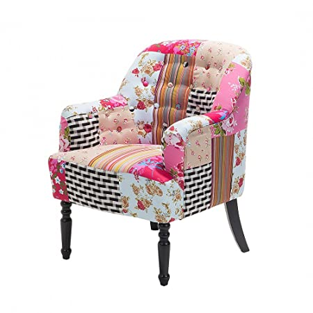 Armchair   Colorful   Patchwork   Upholstered   Fabric   Sette   MANDAL