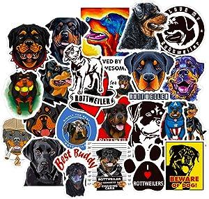 Rottweiler Dog Stickers for Cars Hydroflasks Cool Laptop Wall Scrapbook Computer Luggage Truck Skateboard Bike 50pcs