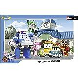 Nathan - 86014 - Puzzle Cadre - L'équipe Des Robocar Poli - 15 Pièces