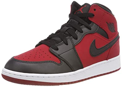 65be00dc7d6 Jordan Kids AIR Jordan 1 MID (GS) Gym RED Black White Size 4