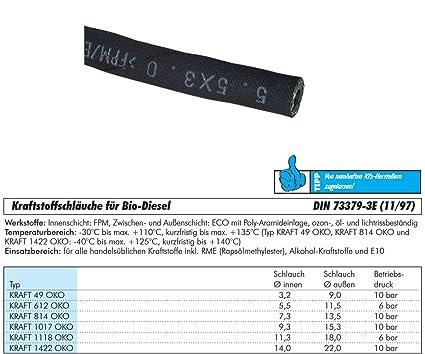 TUBO CARBURANTE DIESEL TUBO DIESEL e10 9,0 x 15,0