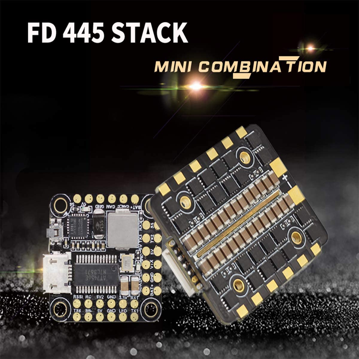 HGLRC FD445 Flight Controller Stack Forward F4 Mini FC BLHeli/_32 FD45A 4in1 2S 6S Electric Speed Controllers for RC Racing Drone Quadcopters