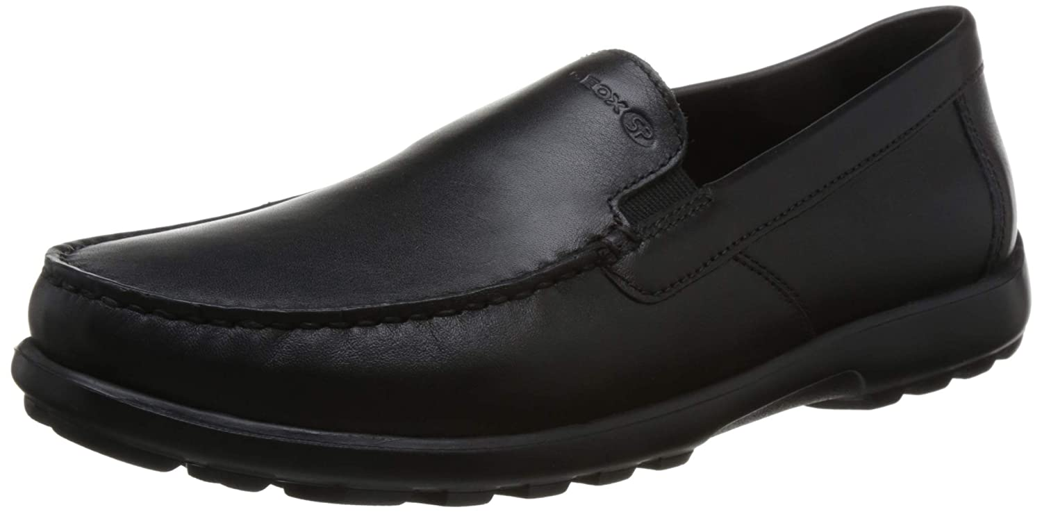 Geox Scarpe Uomo Mocassini U ROMARYC in Pelle nera U845EA-00085-C9999   Amazon.co.uk  Shoes   Bags 26f9c796f5d