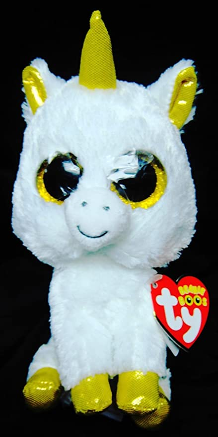 5bf5b2d58f3 Amazon.com  New Orignal TY Beanie Boos Big Eyed Stuffed Animals Pegasus  White Unicorn Plush Toys For Children Gifts Kids Toys 15CM by ToySDEPOT by  ...